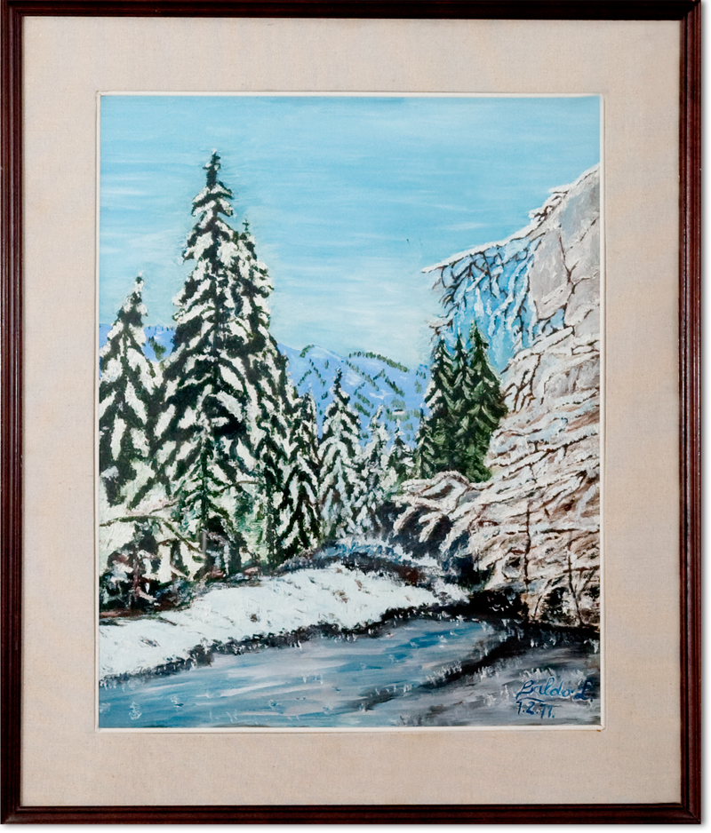 Inverno (bosco innevato)